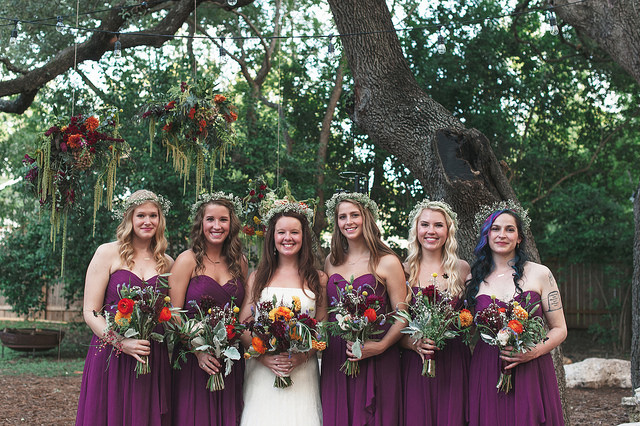 Austin wedding bridesmaids