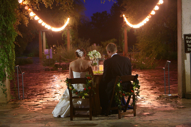 romantic indoor/outdoor wedding